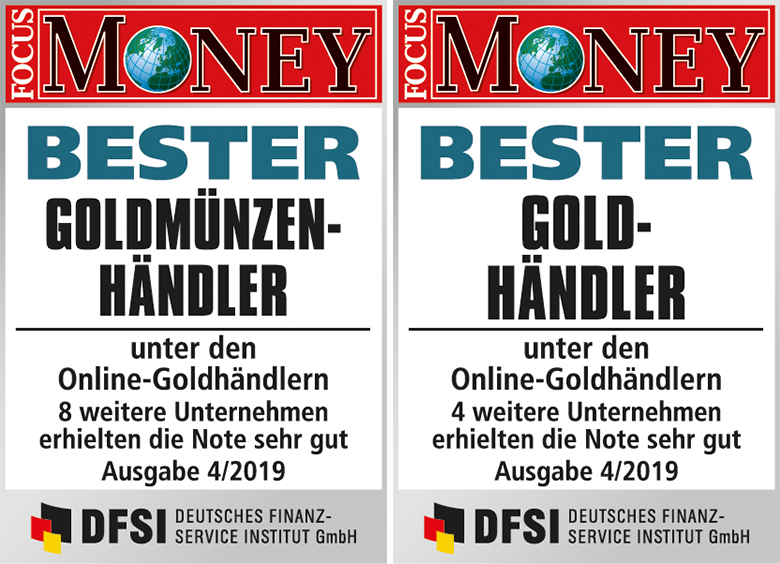 philoro laut Focus Money 2019 bester Goldmünzenhändler