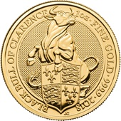 Gold The Black Bull of Clarence 1 oz - The Queen´s Beasts 2018
