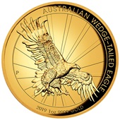 Gold Wedge Tailed Eagle 2019 - 1 oz PP High Relief