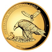 Gold Wedge Tailed Eagle 5 oz PP - 2018