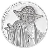 Silber Star Wars Yoda 2 oz Ultra High Relief 2018