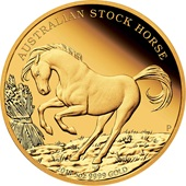 Gold Stock Horse 5 oz PP - 2018