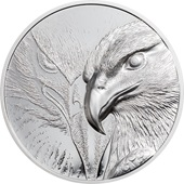 Silber Majestic Eagle 1 oz PP - High Relief 2020