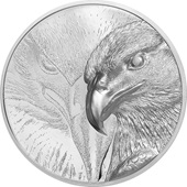 Silber Majestic Eagle 3 oz PP - High Relief 2020