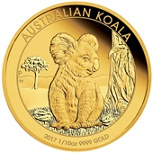 Gold Koala 1/10 oz PP High Relief - 2017