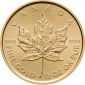Gold Maple Leaf 1/2