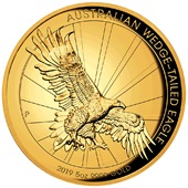 Gold Wedge Tailed Eagle 2019 - 5 oz PP High Relief