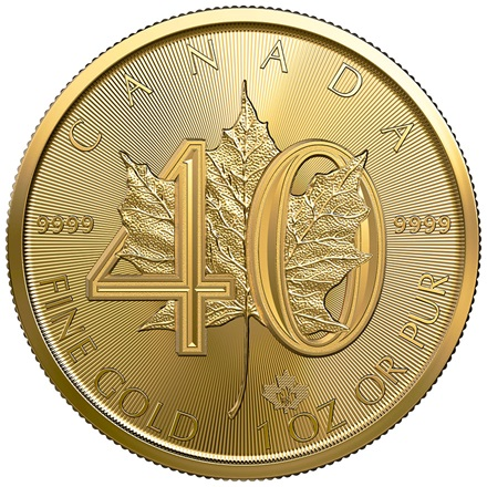 Gold Maple Leaf 1 oz 2019 - 40. Jubiläum