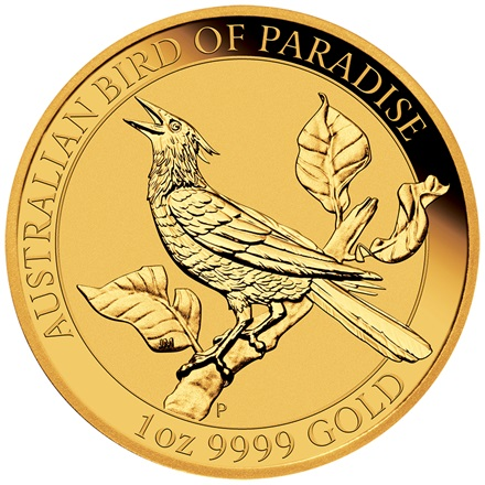 Gold Birds of Paradise - Manucodia Paradiesvogel 1oz 2019