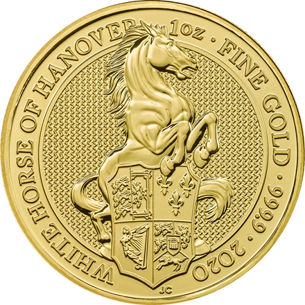Gold The White Horse of Hanover 1 oz - The Queen's Beasts 2020