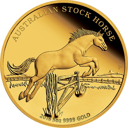 Gold Stock Horse 5 oz PP - 2016