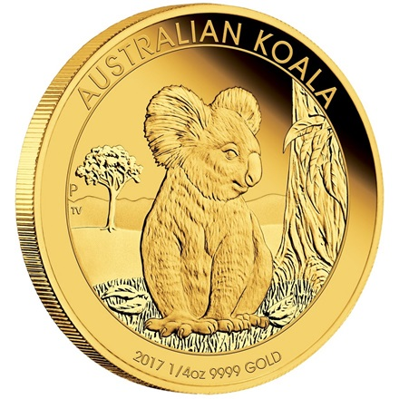 Gold Koala 1/4 oz PP High Relief - 2017