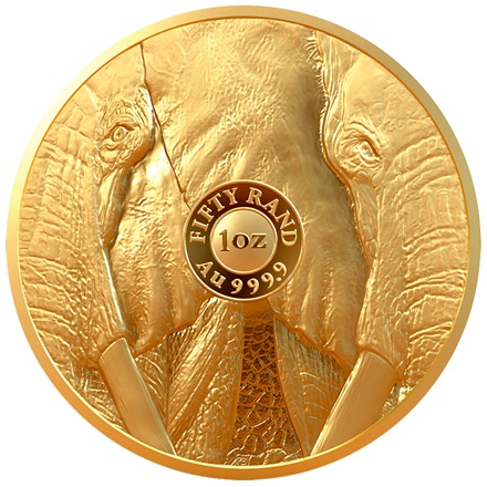 Gold Elefant 1 oz PP - Big Five Südafrika
