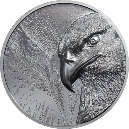 Silber Majestic Eagle 2 oz - Black Proof - High Relief 2020