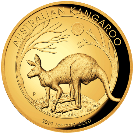 Gold Känguru - 1 oz PP High Relief - 2019
