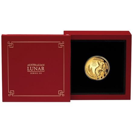 Gold Lunar III 1 oz Maus PP - High Relief 2020