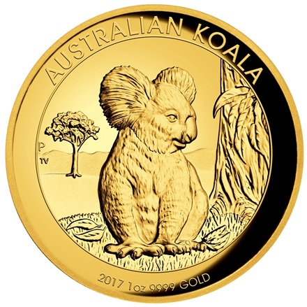Gold Koala 1 oz PP High Relief - 2017