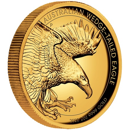 Gold Wedge Tailed Eagle 2020 - 2 oz PP High Relief