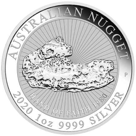 Silber Australian Nugget 1 oz - Hand of Faith 2020