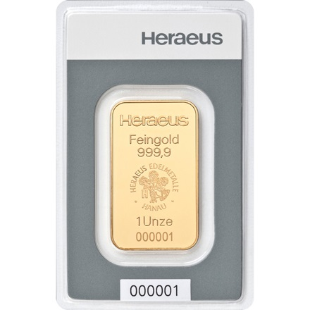Goldbarren 1oz – Heraeus