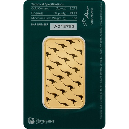 Goldbarren 100g - Perth Mint
