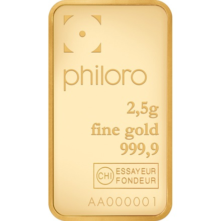 Goldbarren 2,5g - philoro