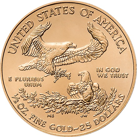 Gold American Eagle 1/2
