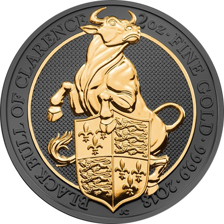 Golden Enigma The Black Bull of Clarence 2 oz Silber - The Queen´s Beasts 2018