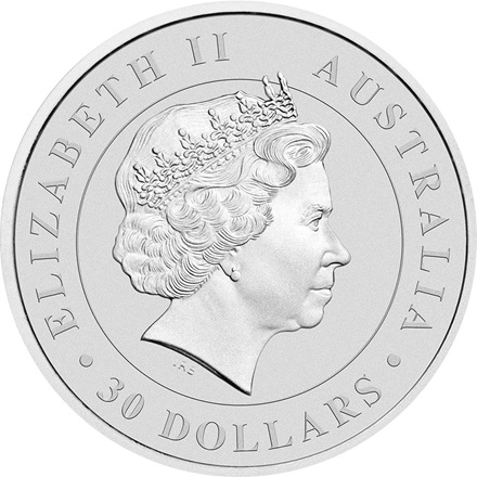 2017 1 kg silver Koala Australia  Back