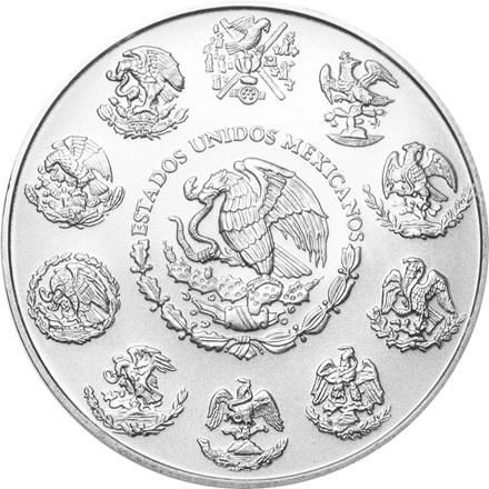 (Random year) 1 Oz silver Libertad Mexico  Back